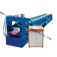 7.5Kw Tile Roof Ridge Cap Roll Forming Machine 0.3mm - 0.7mm for Steel Prefab House Manufactures