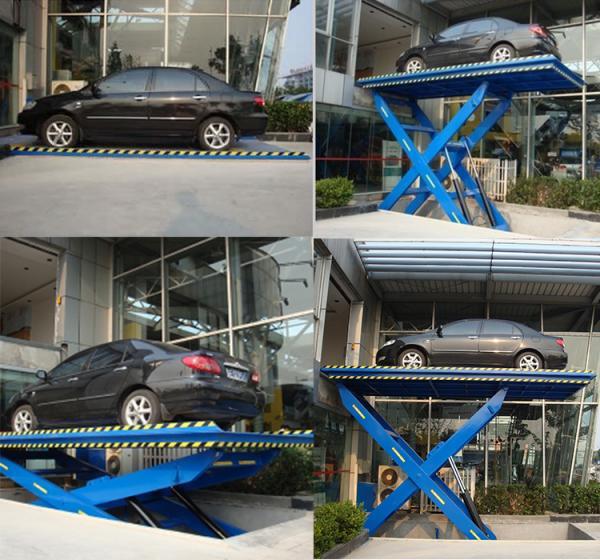 Hydraulic scissor car lifting platform