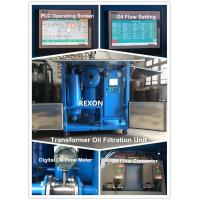 High Vacuum Transformer Oil Purification Machine ZYD-150 Oil Flow 0~9000 Liters / Hour Manufactures