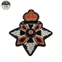 Delicate Elegant 3D Embroidery Patches Custom Shape With India Slik / Metal Material Manufactures