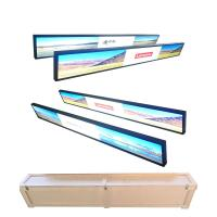 Wall Mounted Ultra Wide Digital Signage , Metal Shell Waterproof Lcd Display Manufactures