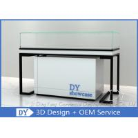 Durable Metal Wood Jewelry Display Cases With Locks / Acrylic Logo Manufactures