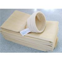 China Flame Retardant Cement Dust Filter Bag Large Filtration Surface Area on sale