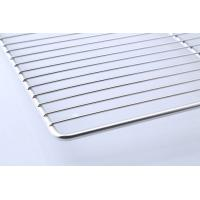 Quality Food Grade Stainless Steel BBQ Tray / Wire Mesh Barbecue Grill Tray for sale