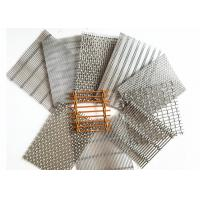Copper Architectural Wire Mesh , Cable Rod Weave Architectural Metal Screen Manufactures