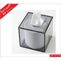 Quality Magnetic Square Green Acrylic Tissue Box Cover For Restaurant for sale