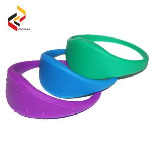 China Hot sale RFID silicone wristband RFID led wristband,RFID woven wristband on sale