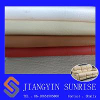 Abrasion Resistant Sofa Synthetic Leather 0.85mm Pvc Leather Upholstery Fabric Manufactures