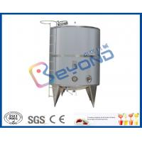 Single Layer Stainless Steel Milk Storage Tank For Juice Storage Tank SGS / CE / ISO9001 Manufactures