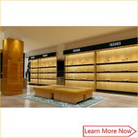 High end retail wooden man leather  shoe store Displays with light decorated Manufactures