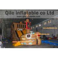 Buy cheap large inflatable Pirate ship slide inflatable Disneyland castle inflatable from wholesalers