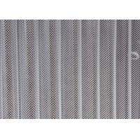 White Metal Coil Drapery Screen Chain Link Type With Length / Width Customized Manufactures