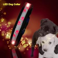 C903 Wholesale Factory Christmas Flashing Lights Usb Rechargeable Light Up Led Dog collars Manufactures