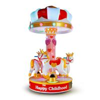 3 People Amusement Kids Ride Indoor Outdoor Playground Merry - Go - Round  Small Carousel Manufactures