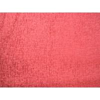 100 Polyester Pink Chenille Stripe Upholstery Fabric Shrink - Resistant Manufactures