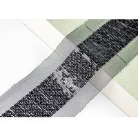 Shiny Sequin Embroidery Nylon Mesh Lace Trim For Fashion By Schiffli Lace Machine Manufactures
