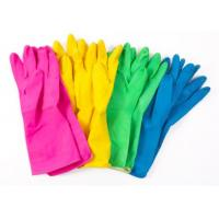 Colored Long Waterproof Protective Gloves Latex Household For Kitchen Cleaning Manufactures