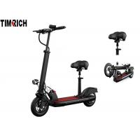 TM-TM-H06B Aluminum Alloy Frame Standing Electric Scooter Drum Rear Foot Brake With Led Lights Manufactures