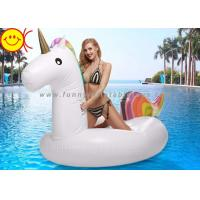 China Unicorn Swimming Pool Float Inflatable Raft Holds Up to 400lbs Inflates and Deflates Fast Premium Quality Toy wholesale