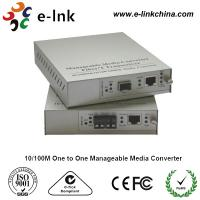 E-link 10 / 100M One to One Manageable Fast Ethernet Media Converter with Internal Power Supply Manufactures