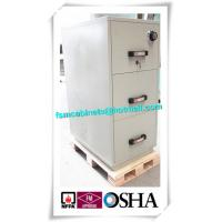 3 Drawer Fire Resistant Filing Cabinets For Storing Documents In Hotel / Office Manufactures