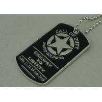 Military Die Casting Zinc Alloy Metal Pet Tag Dog Id Tags Nickel Plating Manufactures