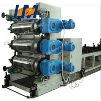 China 380V Plastic Sheet Extrusion Line , PVC Plastic Sheet Making Machine on sale