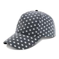 China Curved Brim Baseball Cap / Youth Fitted Baseball Hats With Plain Black White Dot Printed on sale