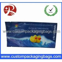 Quality Printed Plastic Food Packaging Bags , Side Gusset Wet Wipes Tissue Packaging Bag for sale