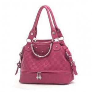 Red pu Leisure bag ladies handbag Manufactures