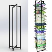 China Square Cushion Folded Metal Floor Display Stands with 4 caster on sale