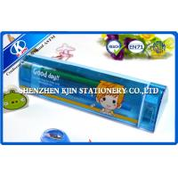 China Small Kids Triangular Plastic Plain Pencil Cases with Hot Transfer Printing LOGO on sale