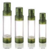 Empty Green Airless Pump Bottle 15ml 20ml 30ml Plastic Transparent Lotion Acrylic Bottles Manufactures