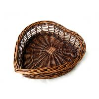 34401 heart shape basket, wicker basket, bread basket, food basket Manufactures
