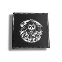 Eco Friendly Custom Drink Coasters Square Leather Coaster Set 103*103*5mm Manufactures