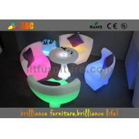 Colorful Glowing Furniture LED Sofa By Remote Control , Rohs Manufactures