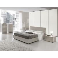 European High Gloss Bedroom Furniture With Khaki Storage Bedroom Set Manufactures