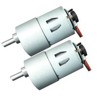 Low Noise 3 6 12 Volt Worm Gear Motor , Worm Drive DC Motor 50mA No Load Current Manufactures