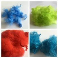 Dope Dyed Staple Recycled Pet Fiber 2.5D - 15D Staple Fiber For Non Woven Manufactures