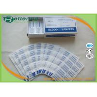 Disposable Sterile Stainless Steel Lancets For Blood Sample Collection S & L Size Manufactures