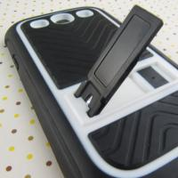 UK Style White Cute Case For Samsung Galaxy S3, TPU + P Stand Cell Phone For Samsung Phone Case Manufactures