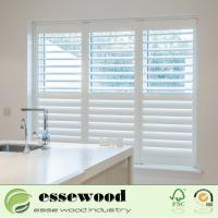 Pure White Wooden Basswood Plantation Shutters for Window Manufactures