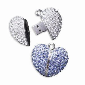 China Best Wedding Gifts Diamond Jewelry USB Flash Drives on sale