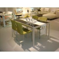 China Contemporary Microfibril Leather Custom Made Dining Chairs and Table Set for Home on sale