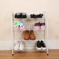 H270 Durable Steel Metal Mesh Shoe Rack Quick And Easy Assembly White Color Manufactures