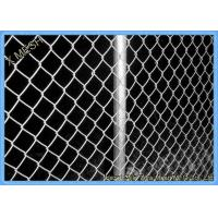 Green Vinyl Coated Chain Link Fence Panel For Farm 5mm Wire Dia Manufactures