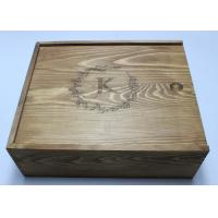 Buy cheap Vintage Pine Wooden Crate Gift Box Brown Color 27cm For Birthday Gift from wholesalers