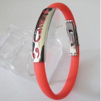 Fashion Jewelry Wholesale Friendship Red Rubber Bracelets Manufactures