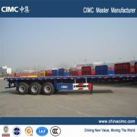heavy duty large 20ft 40ft container trailer price flat bed trailer for sale Manufactures