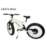 High Speed Electric Fat Tire Mountain Bike , Electric Bicycle With Big Fat Tires Manufactures